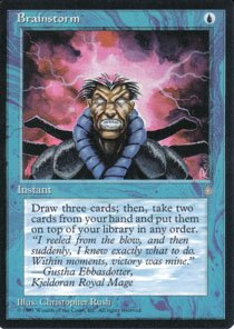 Magic the Gathering Ice Age Brainstorm NM/Mint