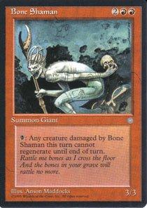 Magic the Gathering Ice Age Bone Shaman NM/Mint