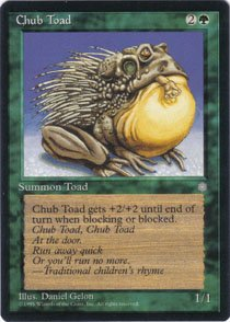 Magic the Gathering Ice Age Chub Toad NM/Mint