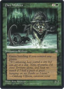 Magic the Gathering Ice Age Dire Wolves NM/Mint