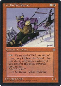 Magic the Gathering Ice Age Goblin Ski Patrol NM/Mint