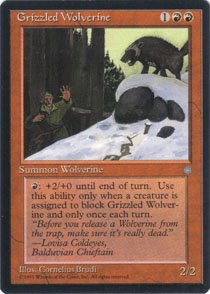 Magic the Gathering Ice Age Grizzled Wolverine NM/Mint