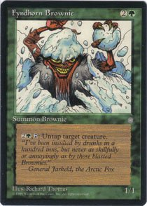 Magic the Gathering Ice Age Fyndhorn Brownie NM/Mint
