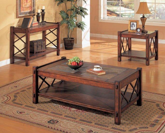 Coffee Table End Table And Sofa Table X Design Slate Inlay Home