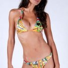 Ed Hardy CROSS w/ Heat & Lock Bikini Swim Suit ~ LARGE