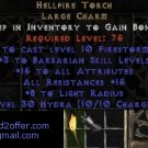 Hellfire Torch Diablo 2 USEAST Ladder 15/15 barb Barbarian