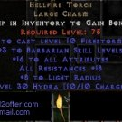 Hellfire Torch Diablo 2 USEAST Ladder 16/18 barb Barbarian