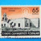 Postage Stamp Vintage Collectable Turkish depicting historic Saint Nicholas Church in Demre