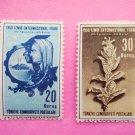 Turkish Postage Stamps 2 Commemorating the 1950 Izmir International Fair