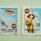 Set of Postage Stamps Commemorating 40th Anniversary Turkish Aeronautical Association foundation