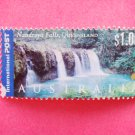 Australian International Postage Stamp with a view of Nandroya Falls in Queensland