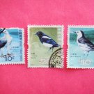 Hong Kong Postage Stamps with bird pictures on them