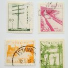 Turkish Postage Stamps 4 images representing development collectible vintage
