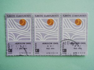 3 Turkish Postage Stamps Commemorating 10th Anniversary of Hyroelectric development in Turkey
