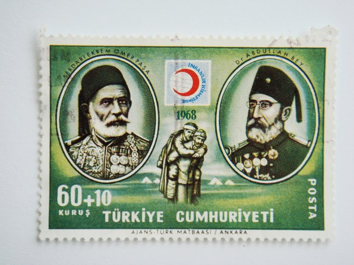 Commemorative Turkish Postage Stamp for the 100th Anniversary of the foundation of The Red Crescent