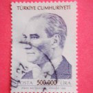Turkish Postage Stamp depicting first Turkish President Mustafa Kemal Ataturk navy