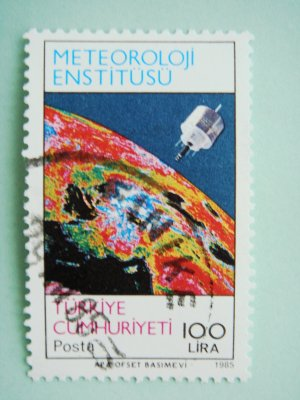 Turkish Postage Stamp about Turkish Meteorological Institute