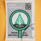 250 kurus Turkish Postage Stamp about Forest Preservation and Reforestation