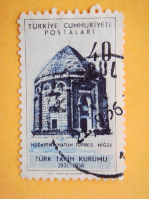 Turkish Postage Stamp about 25th anniversary of Turkish History Foundation