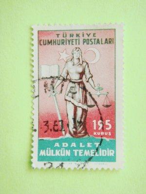 Turkish Postage Stamp about Turkish Justice System principle