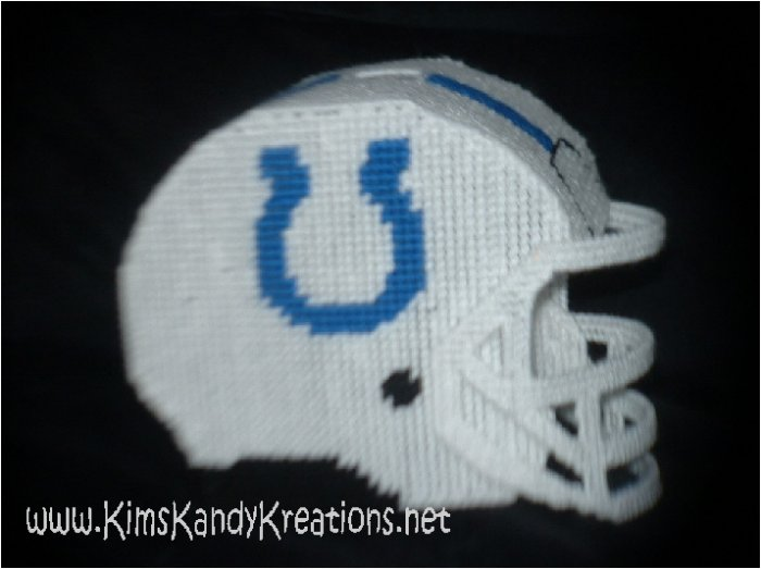 Colts Helmet Plastic Canvas Tissue Box