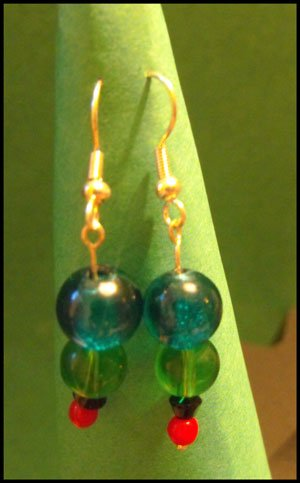 Colourful Bead Earrings