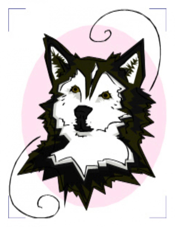 Dogs Coaster 002-Digital Download-ClipArt-Art Clip