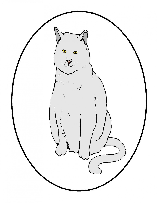 Black Circle Cat202014-Digital Download-ClipArt-ArtClip-Digital Art