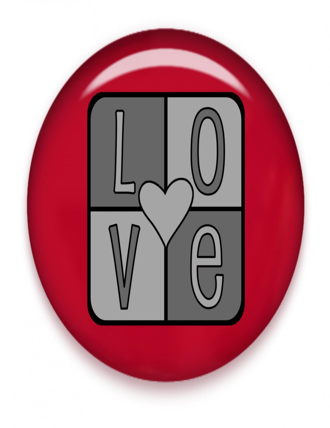 LOVE Brad Red Glass-Digital Download-ClipArt-ArtClip