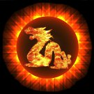 Solar Eclipse with Dragon
