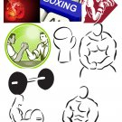 Sports Set4-T-Shirt-Digital Clipart-Website-Gift Tag-Gift Cards-Clipart
