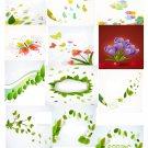 Spring Set Background 2-T-Shirt-Digital Clipart-Website-Flower-Gift Tag-Gift Cards
