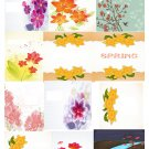 Spring Set Background 1-T-Shirt-Digital Clipart-Website-Flower-Gift Tag-Gift Cards