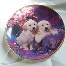 Golden retriever collector plate Franklin mint heirloom recommendation precious pals