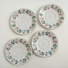 A nice 4 piece set of English porcelain saucers royal doulton