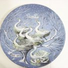 haviland Limoges six geese a laying 1975 Christmas collector plate France