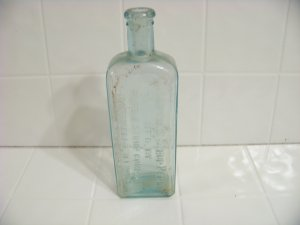 Embossed Caldwell's syrup pepsin bottle