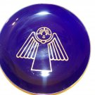 Dark blue plate with gold angel