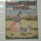 Mother Goose rhymes Platt and munk linen 1939 children's book