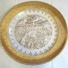 crest-o-gold Sabin Colorado plate 22k