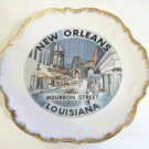 New Orleans Louisiana bourbon street plate
