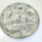 Vermont the green mountain state decorative plate