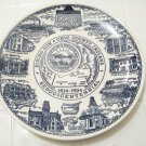 rising sun Ohio county Indiana sesquicentennial plate by Kettlesprings kilns
