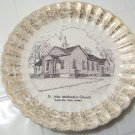 St John Methodist church plate by world wide art studios