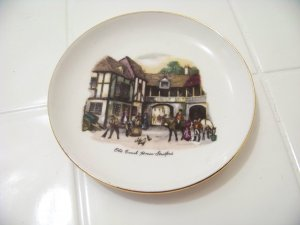 small decorative plate pin dish old coach house Stratford
