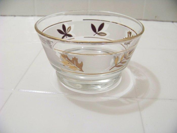 Libbey gold foliage condiment dip bowl