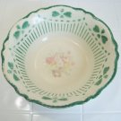 Homer Laughlin Virginia rose green heart trimmed bowl A 45 N 8
