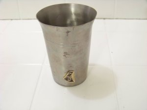 Rein Zinn cup pewter aluminum 92% glass german