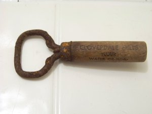 bottle opener with wood handle Cloverdale mills