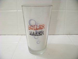 Boiler maker beer glass holds 16 oz great for your bar